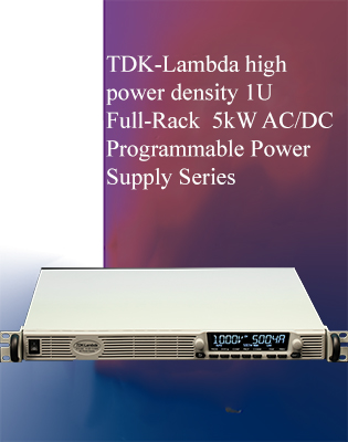 New Generation Full-Rack 1U AC-DC Programmable Power Supply Series