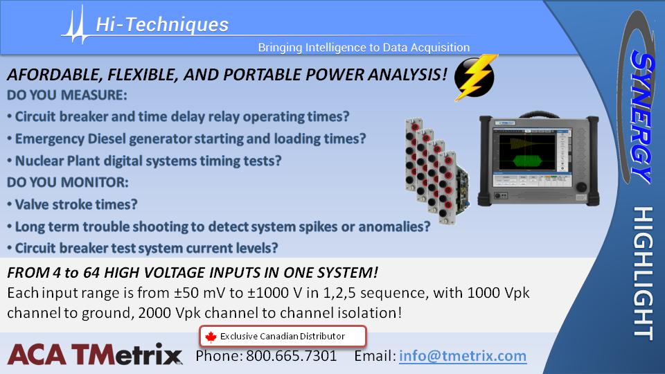 ACA TMetrix Synergy Power Analyzer QC 1Oct2019