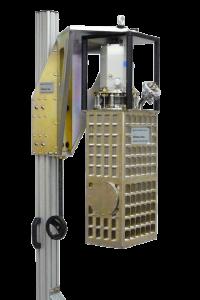 Small, rectangular ADR cryostat